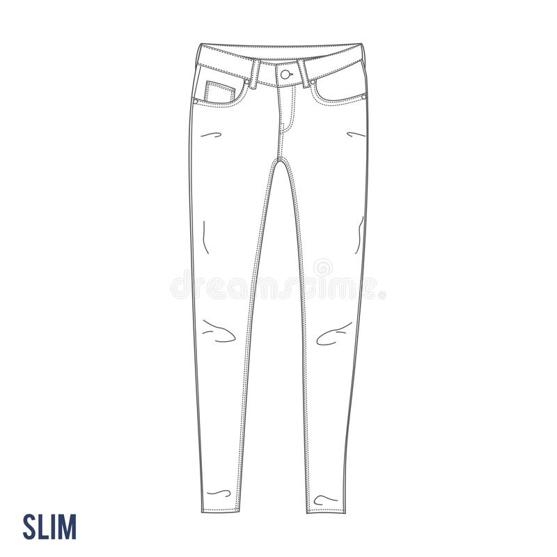 Jeans esili fotografie stock libere da diritti