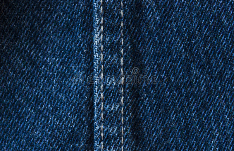 Jeans Fabric. A fragment of colored jeans fabric royalty free stock photography