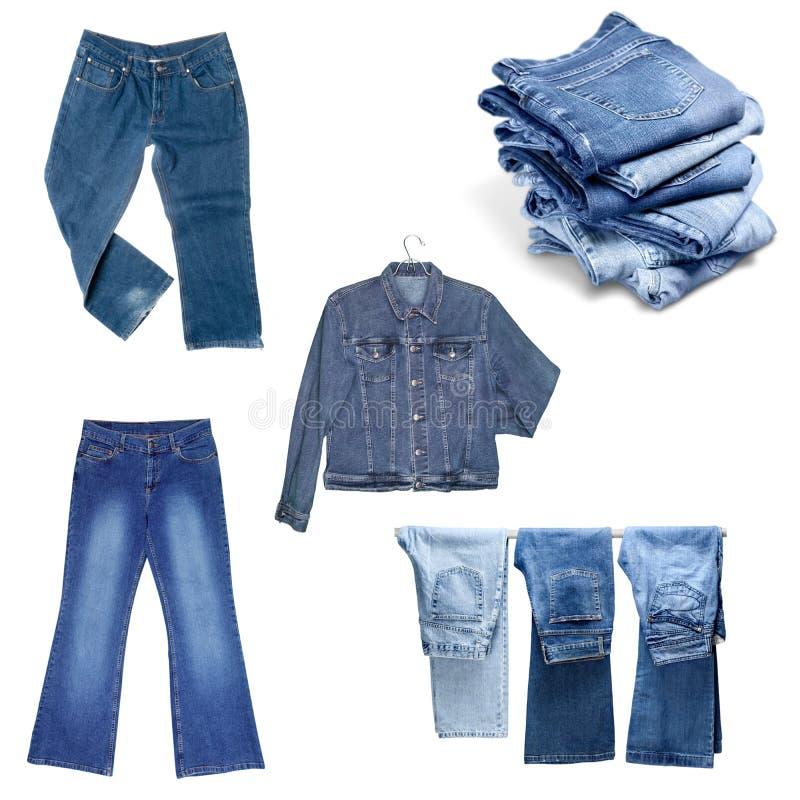 Jeans flåsanden som isoleras royaltyfri bild