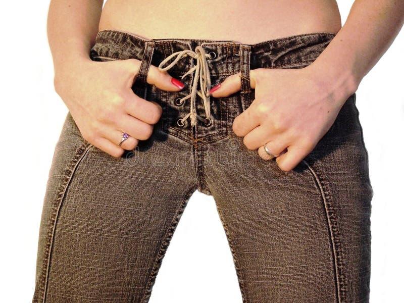 Jeans-Fluglage stockfotos