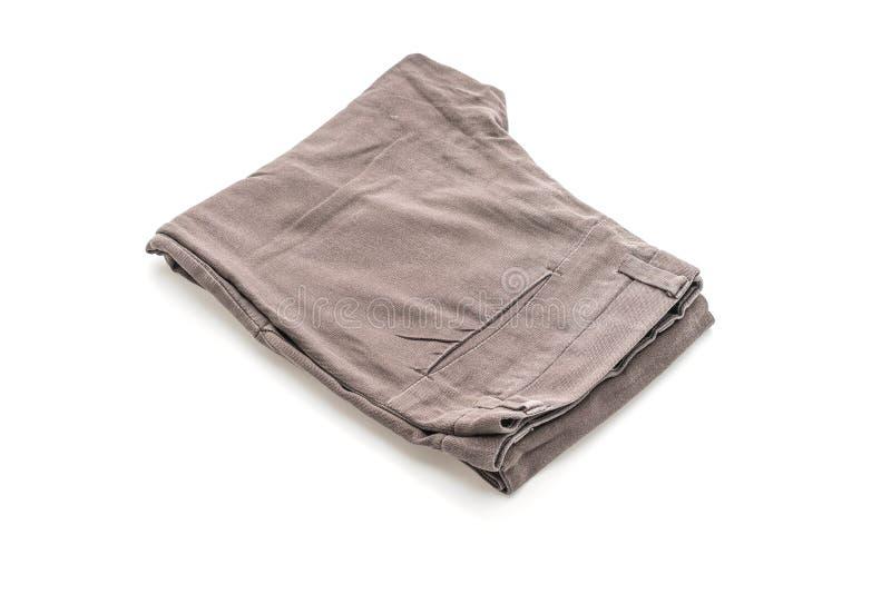 Jeans folded on white background royalty free stock image