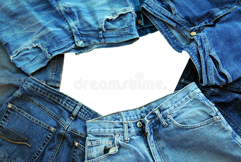 Jeans frame royalty free stock photography