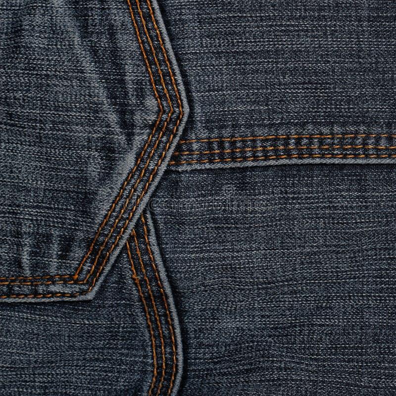 Jeans gemasert zeile lizenzfreies stockbild