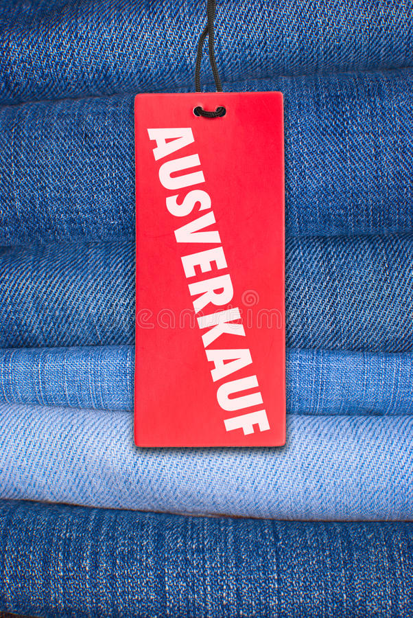 Download Jeans With German Sale Tag Stock Images - Image: 22631224