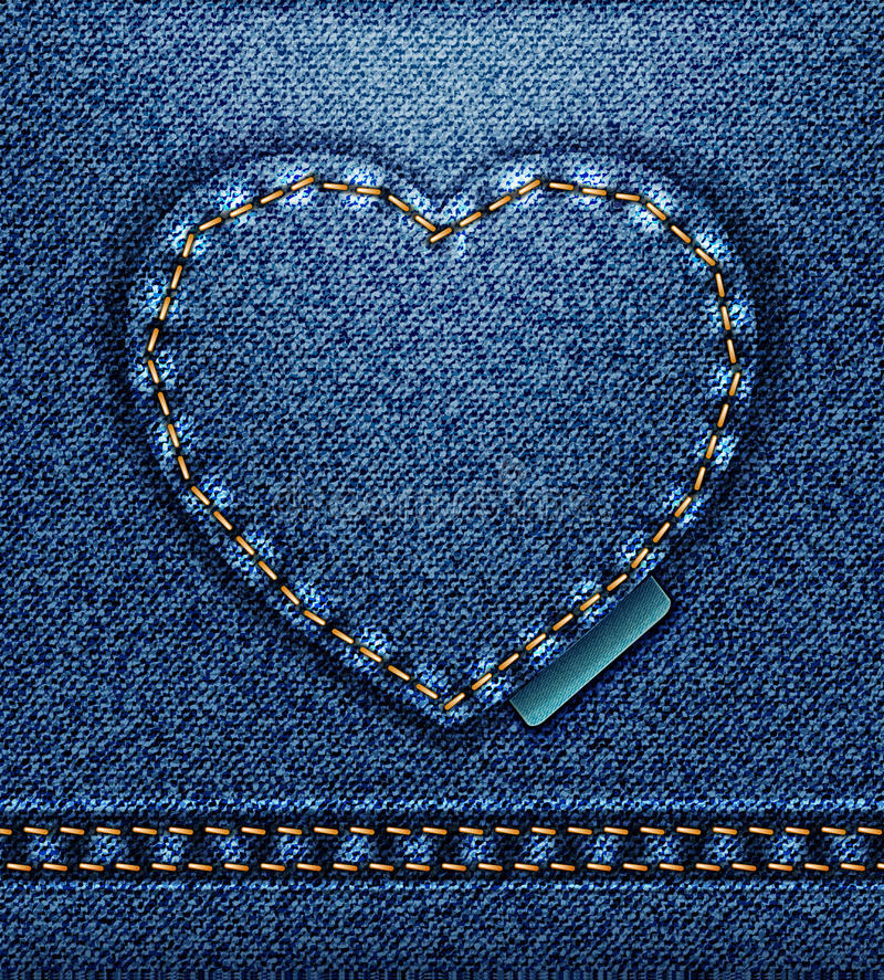 Download Jeans Heart Royalty Free Stock Photography - Image: 23163907