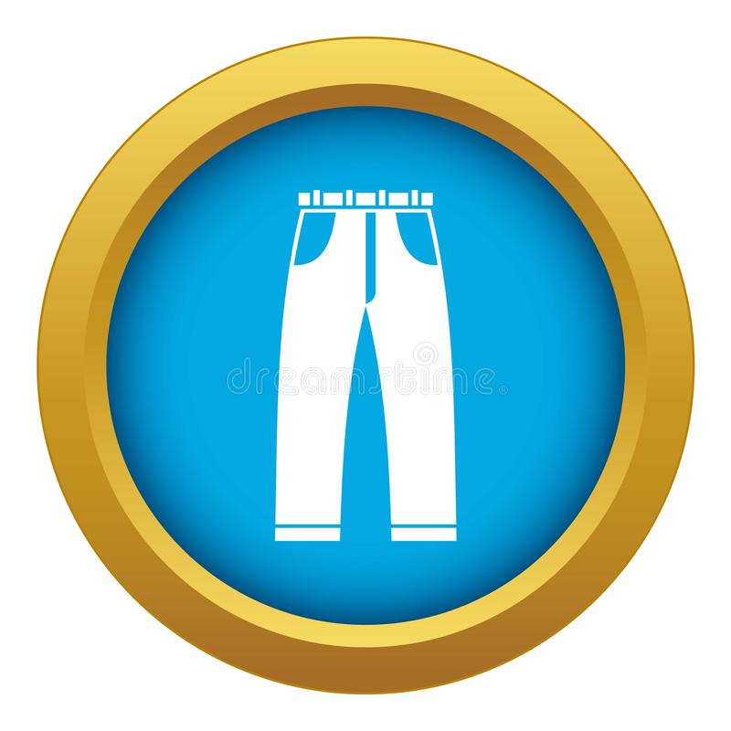 Jeans icon blue vector isolated stock illustration