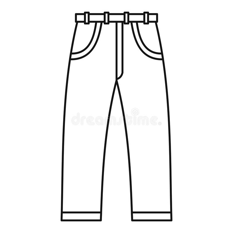 Jeans icon outline style stock vector. Illustration of seam - 82594074