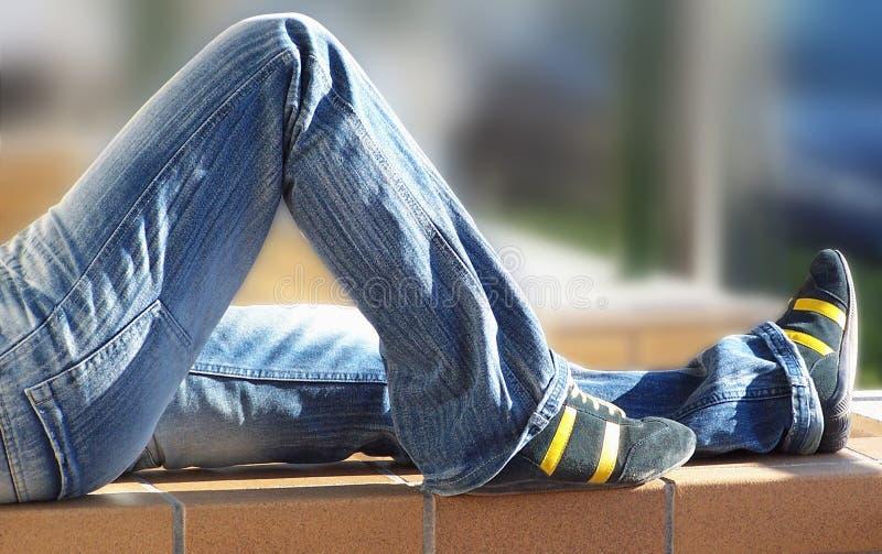 jeans kopplar av royaltyfri foto