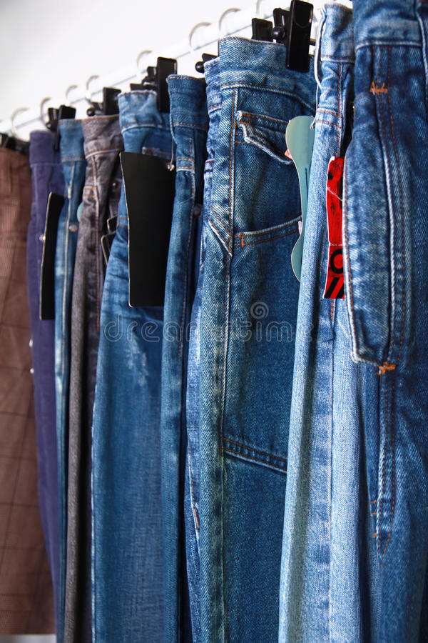 Download Jeans at market stock photo. Image of retails, many, color - 10088276