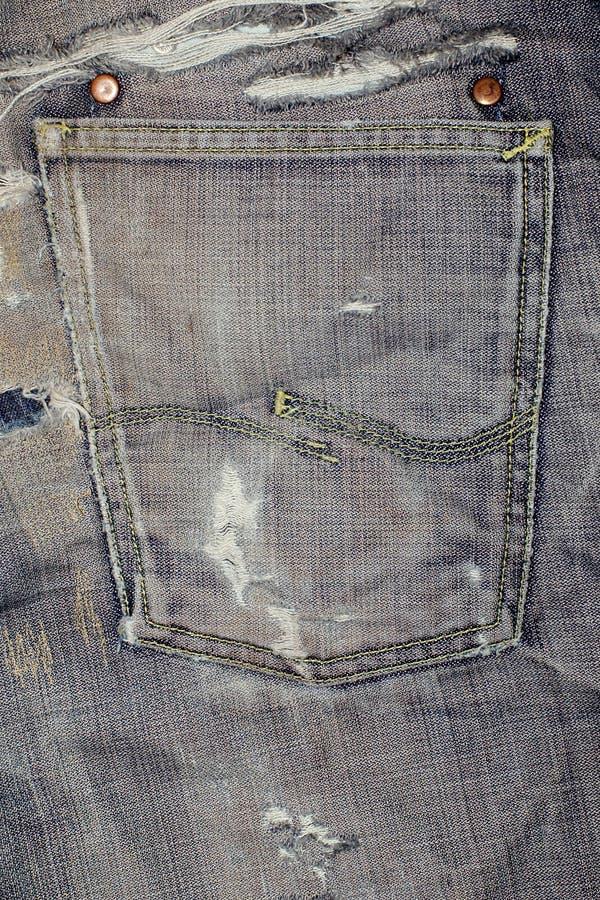 Jeans masern Vertikale stockfotografie