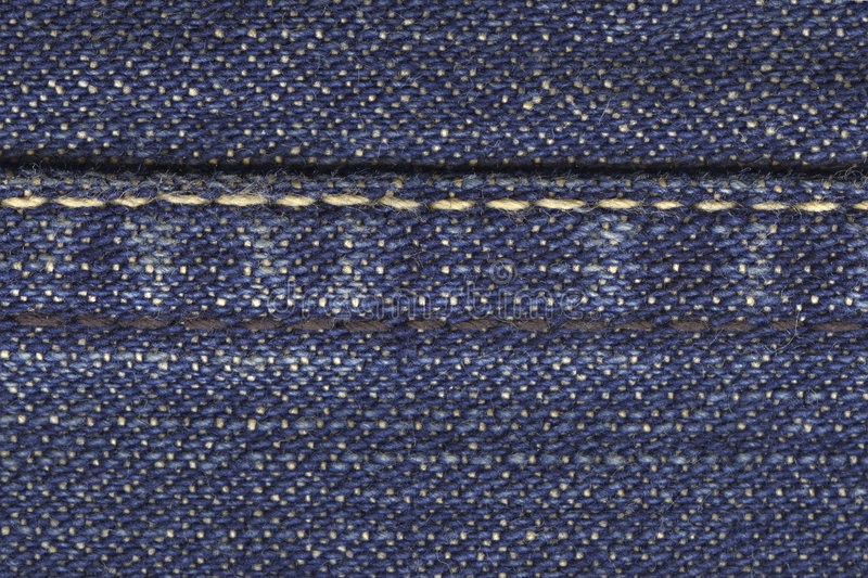Download Jeans material with stitch stock image. Image of close - 1414093