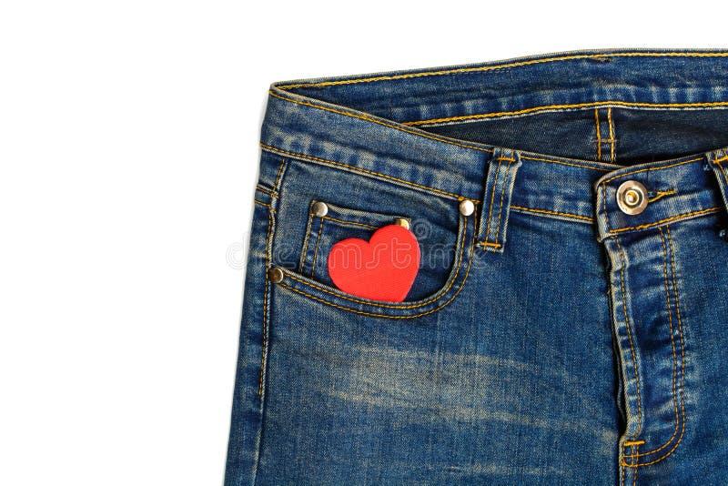 Jeans med hjärtaform royaltyfri bild