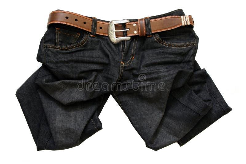 Jeans met een riem royalty-vrije stock afbeelding