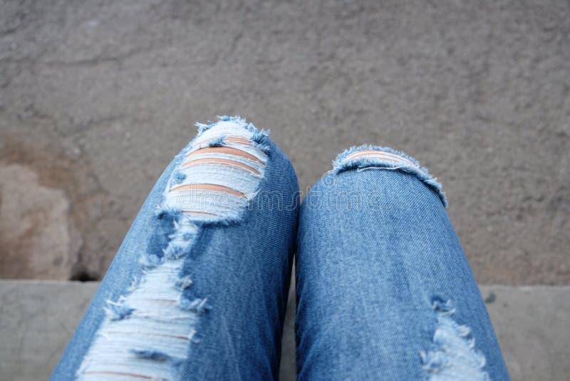 Jeans met vrouwen royalty-vrije stock afbeelding