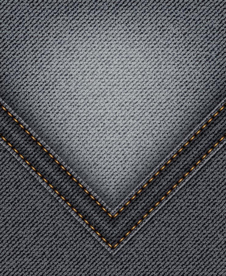 Jeans neri con l'angolo illustrazione vettoriale