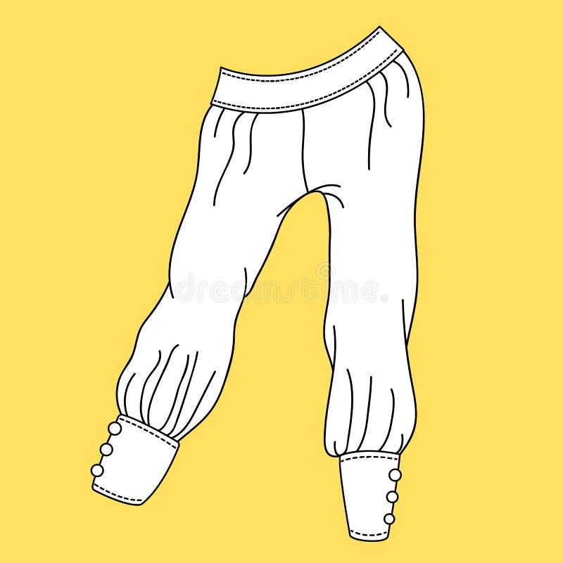 Jeans, pantaloni, pantaloni Illustrazione di modo illustrazione di stock