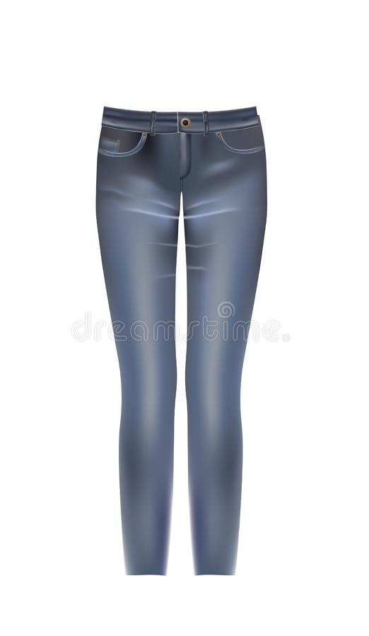 Jeans pants on white background vector illustration