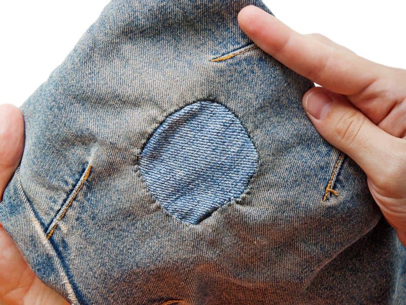 Download Jeans patch stock image. Image of fiber, color, garment - 11737087
