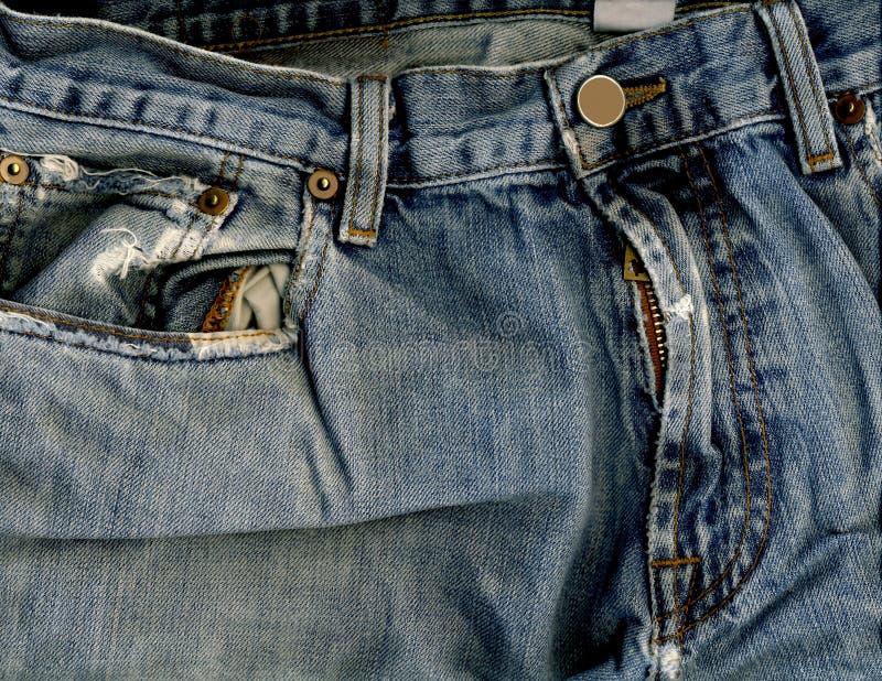 Jeans poche et tirette photos libres de droits