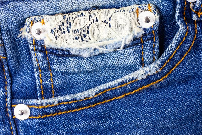 Jeans pocket background royalty free illustration