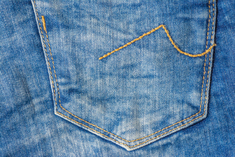 Jeans pocket. Close-up, textile background royalty free stock photos