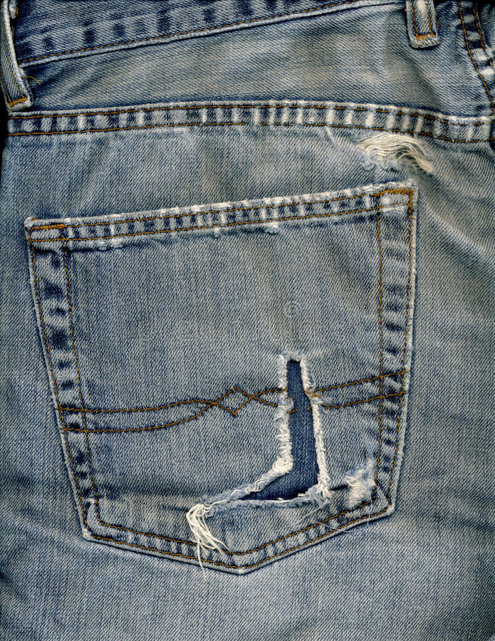 Download Jeans pocket and rip stock image. Image of stitiching - 23549133