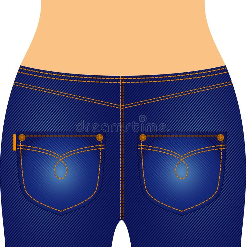 jeans with pockets. vector illustration