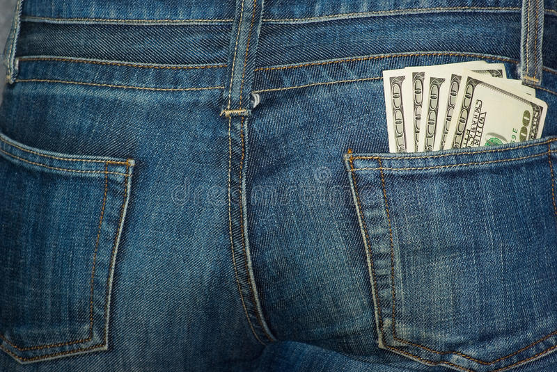 Download Jeans Rear Pocket With $100 Banknotes Royalty Free Stock Photo - Image: 13424415