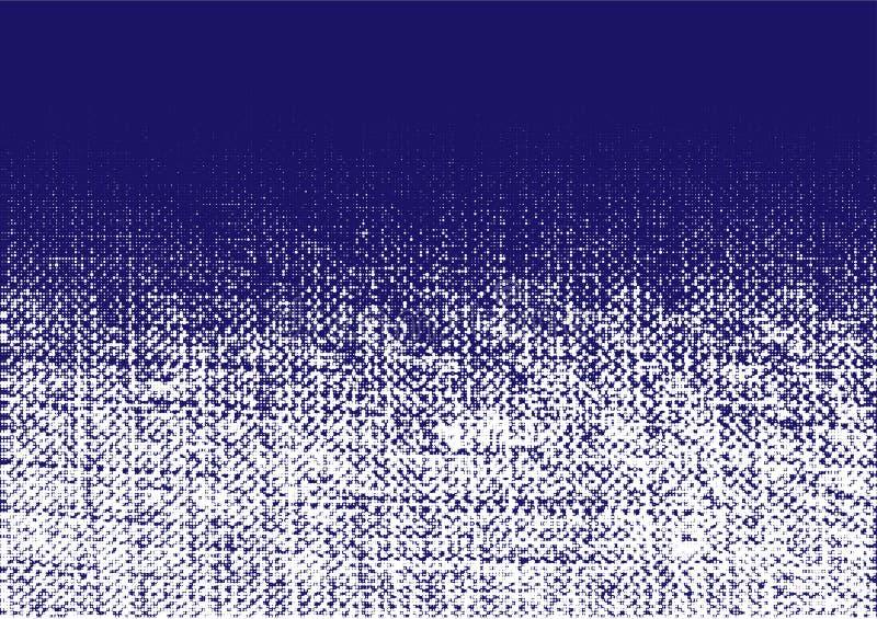 Jeans ruwe textuur Verfrommelde jute Canvas grunge effect Van achtergrond gradi?ntjeans textielpuntenpatroon Vector vector illustratie