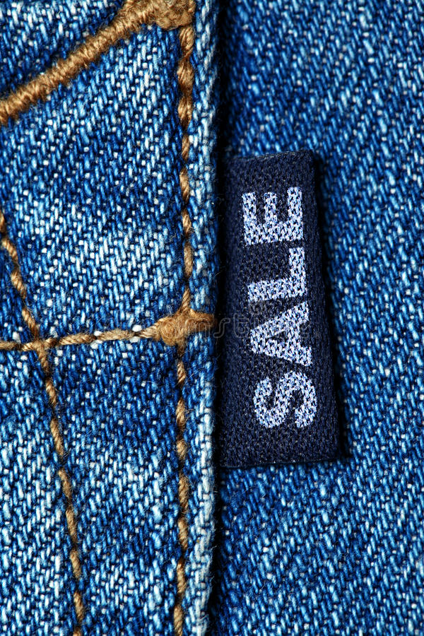 Jeans Sale Stock Photo