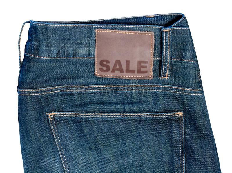 Download Jeans with Sale Sign stock photo. Image of close, closeout - 28423228