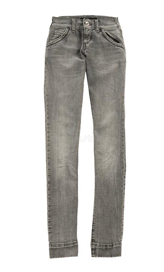 Jeans scarni grigi fotografia stock