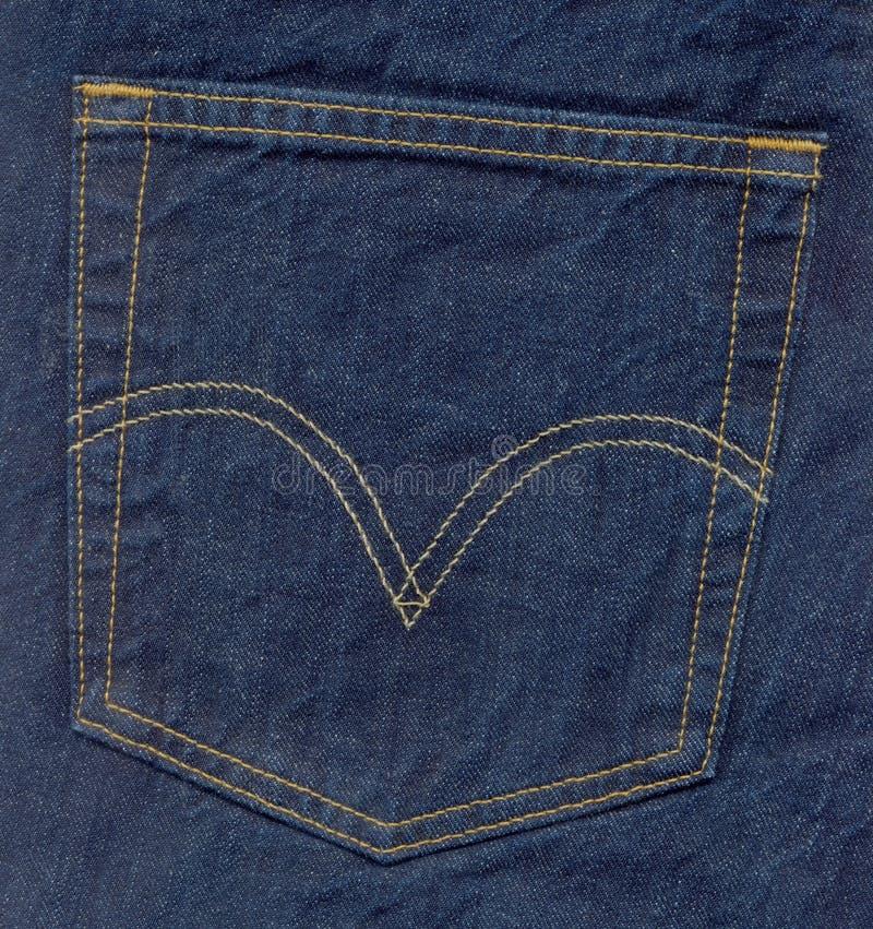 Jeans stoppa i fickan arkivfoto