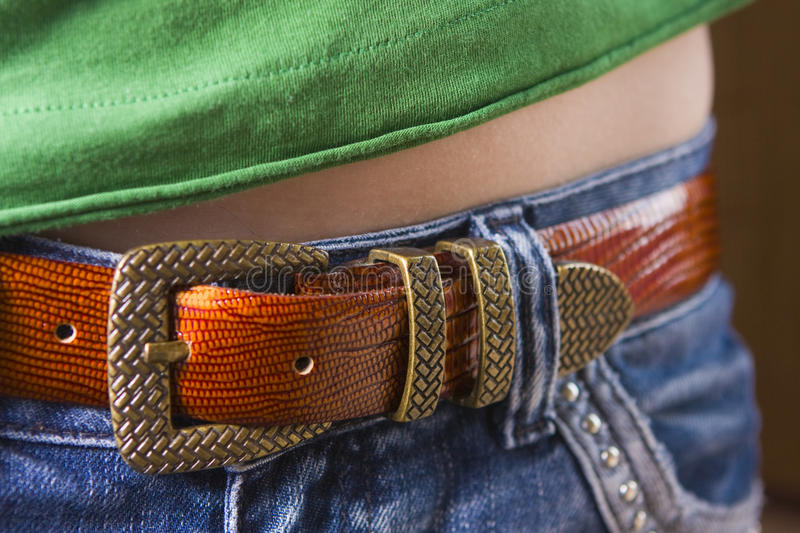 Download Jeans With A Strap Stock Image - Image: 9402991