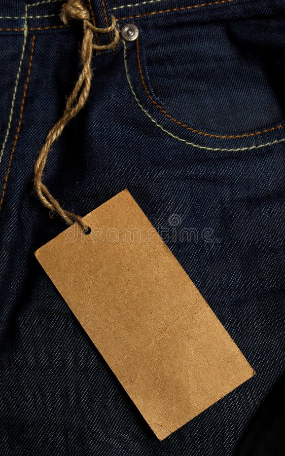 Jeans Tag Stock Photo