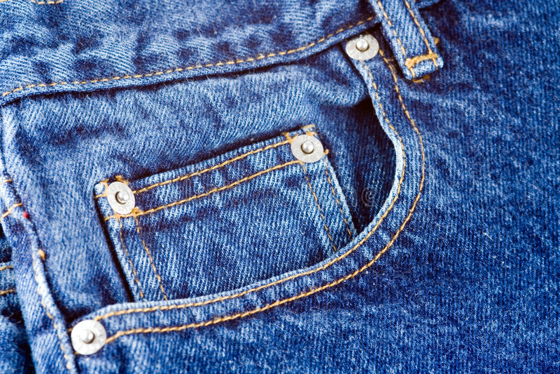 Jeans-Tasche lizenzfreies stockfoto