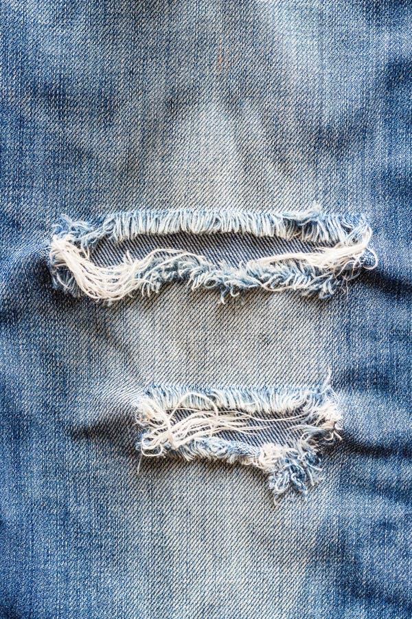 Jeans torn denim texture. stock image