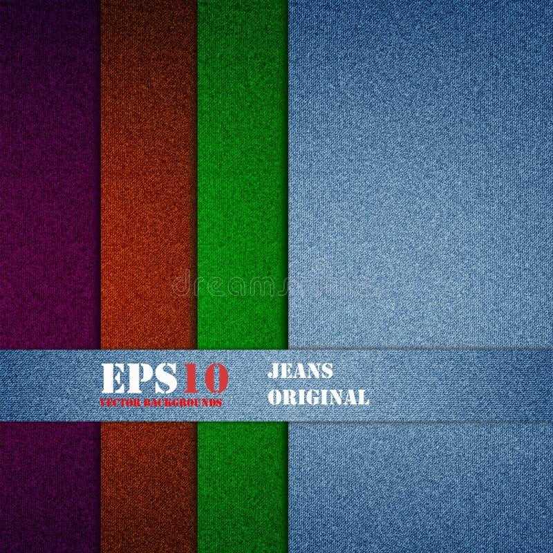 Jeans Vectorachtergrond vector illustratie