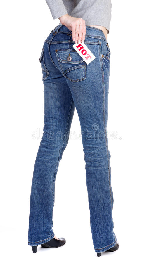 Free Jeans With Label Hot Royalty Free Stock Image - 13410196