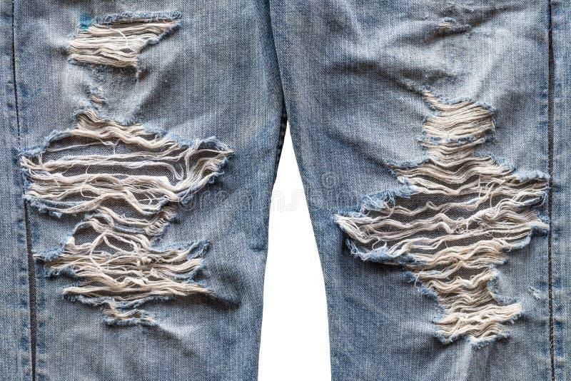 Jeansbeinoberfläche zerrissen stockbilder