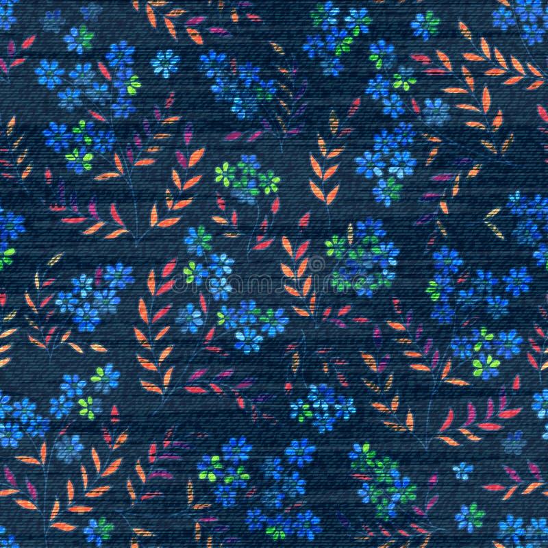 Jeanserdbeerhintergrund Vektorbuntes Muster vektor abbildung
