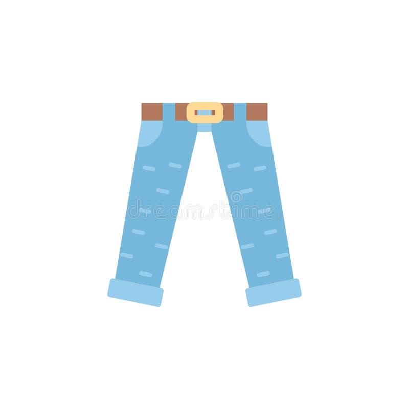 Jeansfärgsymbol Beståndsdel av färgklädersymbolen för mobila begrepps- och rengöringsdukapps Den specificerade jeanssymbolen kan  vektor illustrationer
