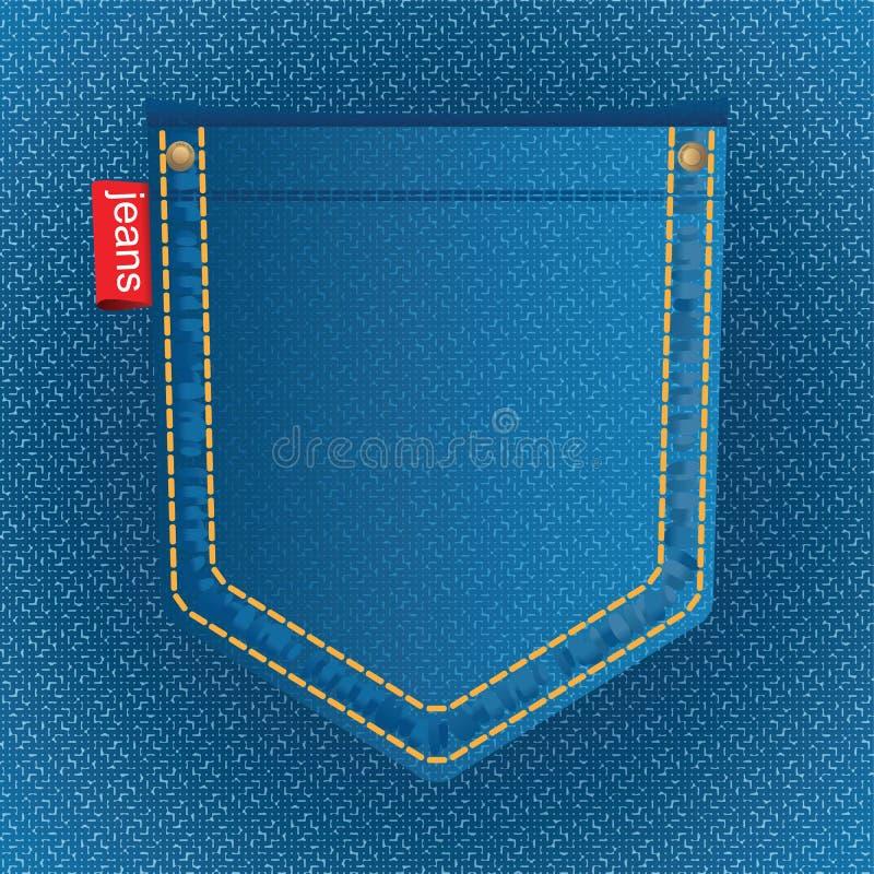 jeansfack vektor illustrationer
