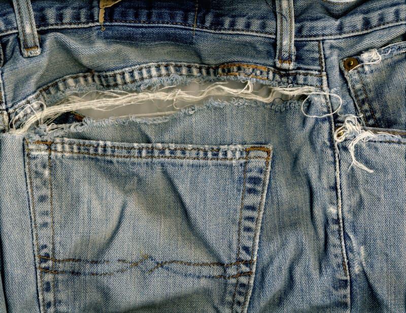 Jeansfack & reva arkivfoto