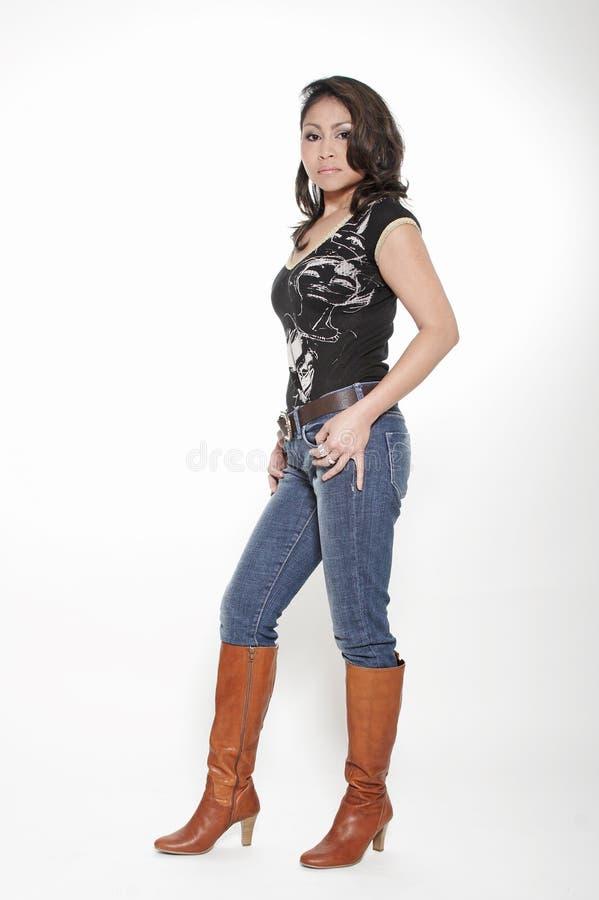 Jeansfrau Stockbild