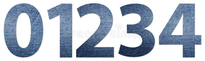 Jeansnummer 0-4 stock illustrationer