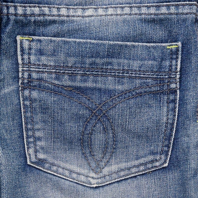 Jeanstasche. Fragment von Jeans. lizenzfreie stockfotografie