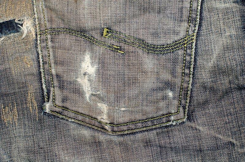 Jeanstaschenabschluß oben lizenzfreie stockfotos