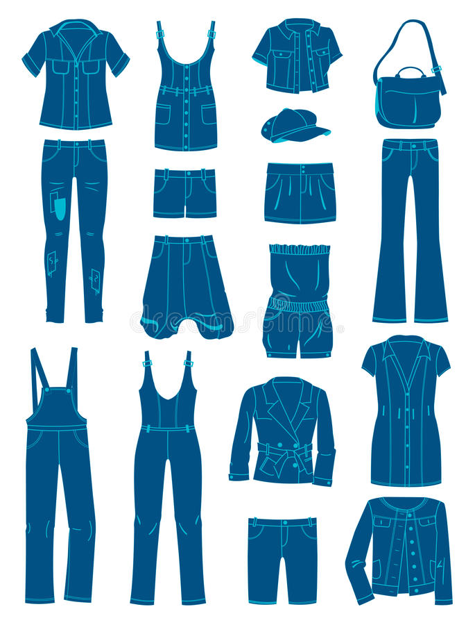 Jeanswear иллюстрация вектора