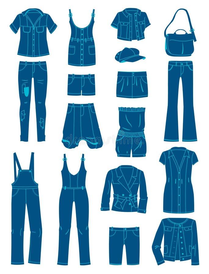 Jeanswear illustration de vecteur